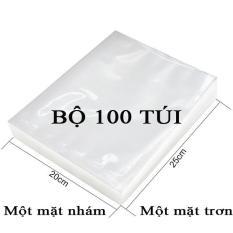 Bộ 100 Túi Hút Chân Không Một Mặt Nhám, Một Mặt Trơn (20cmx25cm)