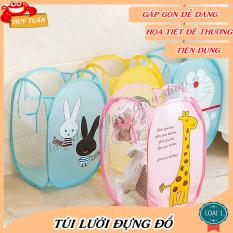 Túi đựng đồ đa năng hình, Giỏ đựng quần áo, đồ chơi cho bé Huy Tuấn