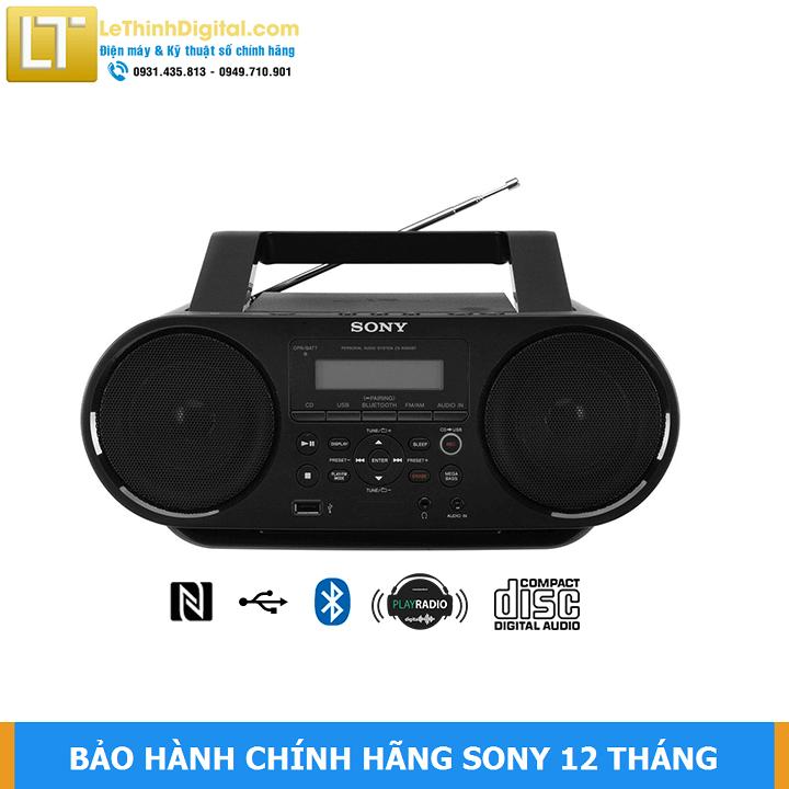 Máy Cassette SONY ZS-RS60BT có Bluetooth / NFC / CD – Hàng chính hãng – Bảo hành chính hãng Sony 12 tháng toàn quốc