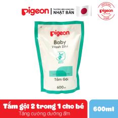 Tắm gội (2 trong 1) Pigeon 600ml (Thay thế) – HSD 02/2021