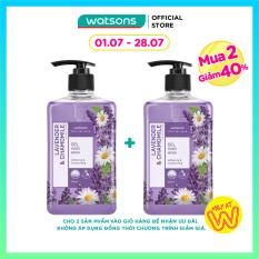 [MUA 2 GIẢM 40%] Gel Rửa Tay Watsons Love My Skin Lavender & Chamomile Scented Gel Hand Soap Hoa Cúc & Oải Hương 500ml