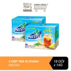 Combo 2 hộp trà vị chanh Nestea (18 gói x 14g)