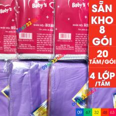 Bộ miếng lót phân su BABY HIỀN TRANG 4 lớp 8 gói