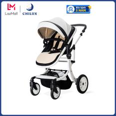 Xe đẩy nôi cao cấp cho bé Chilux S1.9 – 2 chiều, 3 tư thế tiện lợi cho bé sử dụng. Bảo hành 3 năm