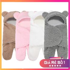 Túi choàng gấu, Túi ngủ, Chăn ủ lông cừu mềm mại cho bé, an toàn cho làn da trẻ sơ sinh