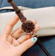 Đồng hồ nữ thời trang GUOU Dây Da Bản Nhỏ-Mặt số viền Thanh Lịch Thời Trang – Tặng kèm hộp và Pin – Sam's Shop