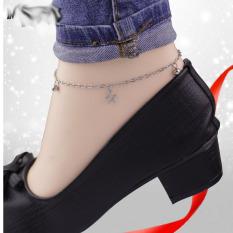 Lắc chân inox nữ dễ thương, hàng cao câp inox cao cấp không hoen, gỉ sét, 1 đổi 1 nếu hoen, rỉ, không dị ứng da, sài nước thỏa mái