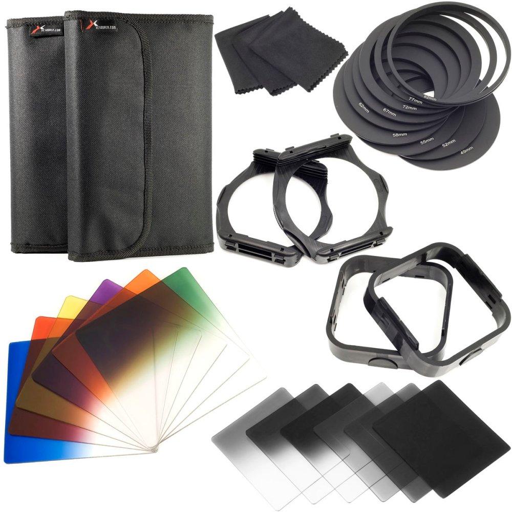 OneTwoFit Bộ ống kính, lọc gradient màu đa lớp phân cực độ phân giải cao cho máy ảnh DSLR kỹ...