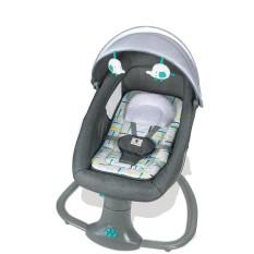Nôi điện ru ngủ cho bé đa năng Mastela 8104/ 8106 – Nôi điện ru ngủ kết hợp ghế ăn, ghế thư giãn đọc sách, 5 chế độ xoay