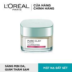 Mặt nạ đất sét dưỡng da sáng tức thì L'Oreal Paris Pure Clay mask Illuminating