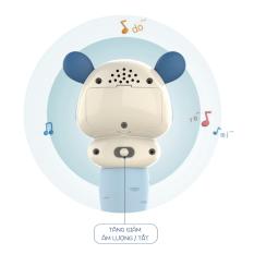 [3 tháng – 2 tuổi] Thỏ phát nhạc kết hợp gặm nứa và xúc xắc (XANH) – Đồ chơi cho trẻ sơ sinh và trẻ nhỏ