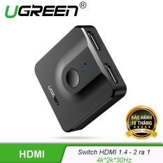 Bộ Switch HDMI 2 ra 1 (tương thích ngược 1 ra 2) chuẩn 1.4 UGREEN CM217 50966