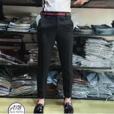 Quần âu nam đẹp , quần tây nam cao cấp màu đen Hàn Quốc dáng ôm body( viên lưng quần y hình)