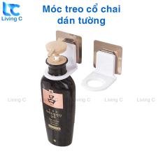 Giá móc treo dầu gội sữa tắm Living C TC, móc treo cổ chai nước rửa tay có miếng dán tường chịu lực
