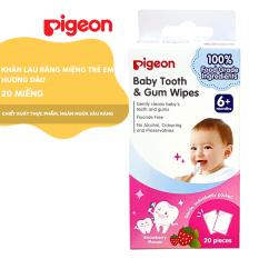 Khăn lau răng miệng trẻ em Pigeon – Hương Dâu