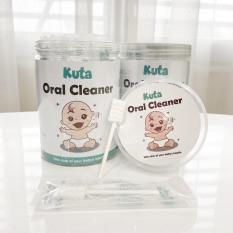Rơ lưỡi tưa lưỡi cho bé KUTA, dệt sợi cotton 100%, mềm mại, kháng khuẩn, an toàn và sạch sẽ [Hộp 30 chiếc]