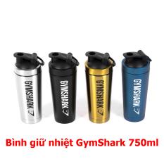 Bình nước thể thao tập gym Shaker GymShark Inox giữ nhiệt