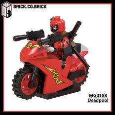 MG0188 Nhân vật Deadpool chạy xe moto – Đồ chơi lắp ráp xếp hình mô hình siêu anh hùng super heroes minifig