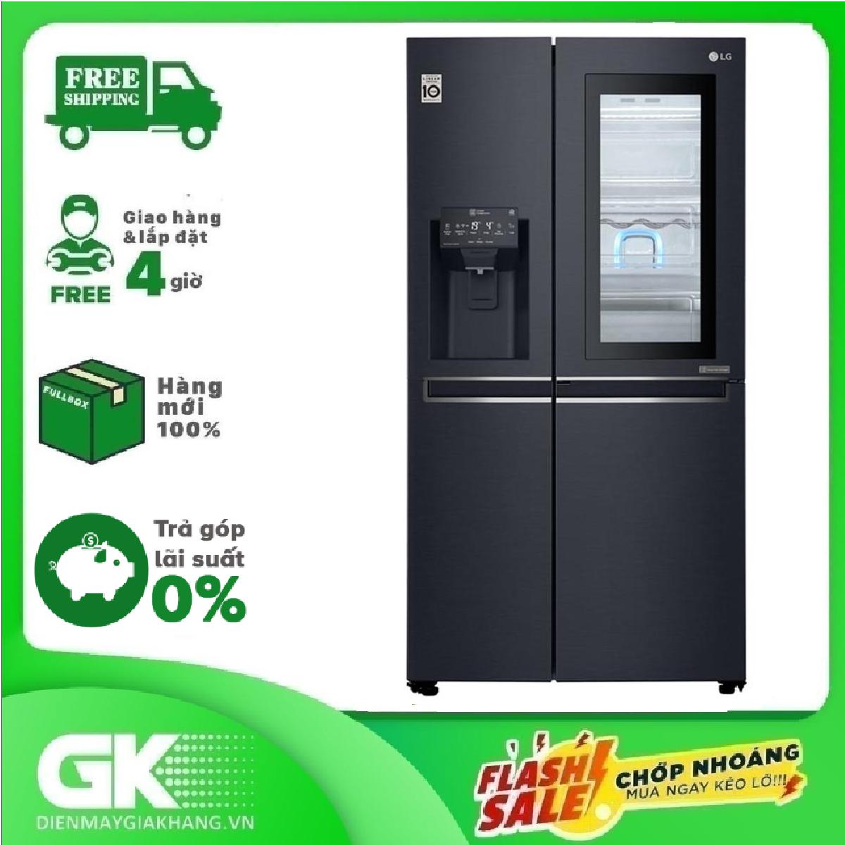 TRẢ GÓP 0% – Tủ lạnh LG Inverter InstaView Door-in-Door 601 lít GR-X247MC- Bảo hành 2 năm