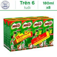 Lốc 8 Hộp Thức Uống Lúa Mạch Uống Liền Nestlé MILO 180ml – Phiên Bản Lốc 8 Đặc Biệt 25 Năm