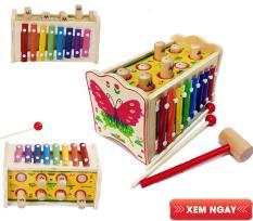 đồ chơi gỗ, đồ chơi đập chuột kết hợp đàn cho bé – đồ chơi phát triển trí tuệ