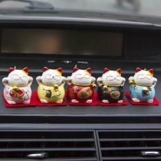 Bộ set 5 mèo thần tài-trang trí nội thất, trang trí oto-May mắn,tài lộc(Shop CB)