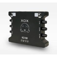 SOUND CARD XOX KS108 CHUYÊN DÙNG CHO THU ÂM, HÁT KARAOKE, LIVESTREAM