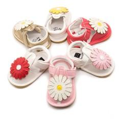 Dép sandal đế mềm cho bé gái (có gắn bông hoa cúc)