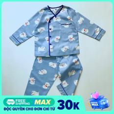 Pijama cho bé vải cotton hút mồ hôi hình Thú phối viền 10-40kg
