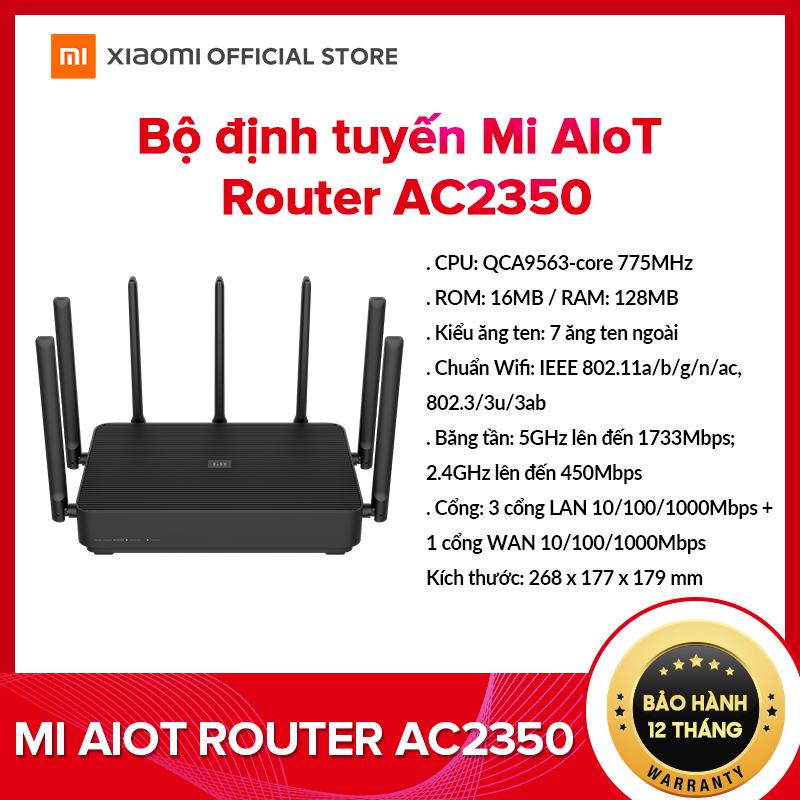 [XIAOMI OFFICIAL] Bộ định tuyến Router Xiaomi Mi AIoT AC2350 – CPU QCA9563-core 775MHz,3 cổng LAN, Hỗ trợ 2 băng tần 2.4Ghz/5.0Ghz, RAM 16MB, ROM 128MB – Bảo hành Chính Hãng 12 tháng