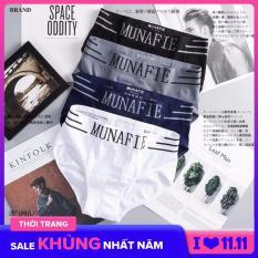 Bộ 4 quần lót nam Munafie hàng dệt kim cao cấp (Có túi zip) – Quần sịp tam giác- WS17