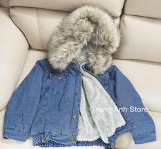 Áo khoác jean nữ hot nhất – Có mũ _ jean dày – mẫu thu đông