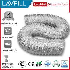 [2m – Phi 100] Ống dẫn gió mềm, ống thông gió bạc chịu nhiệt cao chính hãng LAVFILL LFP-09