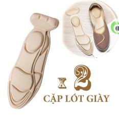 02 cặp lót giày giảm size chống trầy gót chân chống thốn gót, giúp không bị tuột gót khi mang giày cao gót giày búp bê, lót giày mút êm chân bảo vệ gót bàn chân, lót giày mang giày cao gót cực êm chân – Loại nguyên bàn chân – PK11