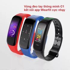 Vòng đeo tay thông minh Wearfit C1 Plus màn hình màu cảm ứng, Đồng hồ thông minh chống nước, Đồng hồ thông minh có bluetooth , Đồng hồ thông minh giá rẻ – Vòng tay thông minh, vòng theo dõi vận động
