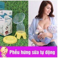 Cốc/ phễu hứng sữa tự động ( kèm nắp + đế ), thích hợp với mẹ nhiều sữa, mẹ rỗng tia sữa, mẹ mới sinh sữa chảy nhiều