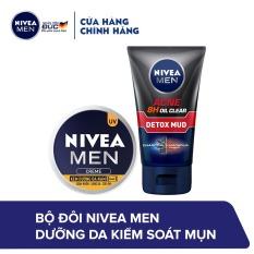 Bộ đôi NIVEA MEN Dưỡng da kiểm soát mụn ( Sữa rửa mặt 83940 100g & Kem dưỡng 83923 30ml )