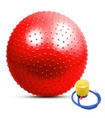 Bóng Yoga cao cấp+ Kèm bộ dụng cụ bơm hơi TPS Gai 75CM (Đỏ)