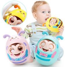 Đồ chơi lật đật đáng yêu kèm gặm nướu phát âm thanh vui tai cho bé sơ sinh, trở lên nhựa ABS, an toàn cho bé