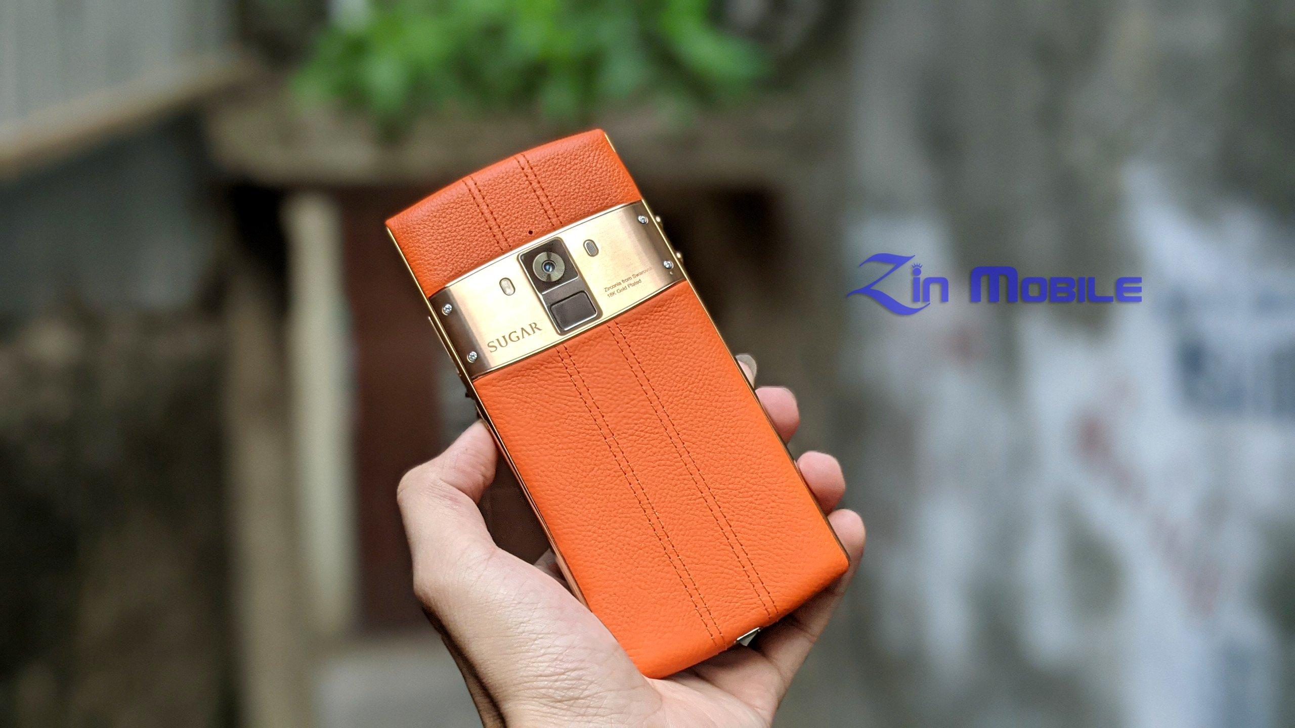 Điện thoại Sugar S30 Dual SIM/ Thương hiệu Pháp - Sang trọng, Lưng Da, mạ vàng 18K tại Zinmobile