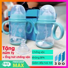 Bình sữa cho bé thông minh siêu mềm (tặng núm ty + ống hút chống sặc) không chứa BPA bình sữa chống sặc đầy bụng sử dụng bé từ 2-12 tháng (1 đổi 1 trong vòng 7 ngày bảo hành 6 tháng), bình sữa cho bé, bình sữa cho bé loại tốt