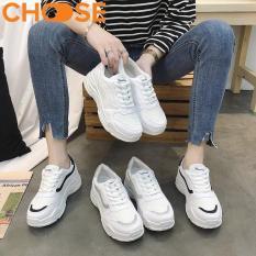 Giày Nữ Sneaker Đế Độn Giày Thể Thao Nữ Giày Bata Giày Lười Màu Trắng Mẫu Mới Mùa Hè Phối Viền Phong Cách Năng Động Mới 2907