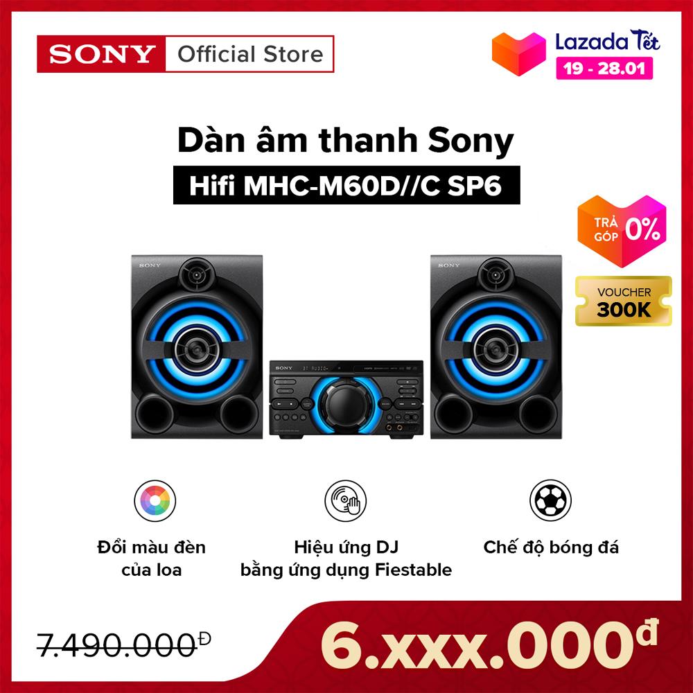 [TẶNG NGAY THÙNG BIA HEINEKEN CHO 30 ĐƠN HÀNG ĐẦU TIÊN – VOUCHER 300K – TRẢ GÓP 0%] Dàn âm thanh Sony Hifi MHC-M60D//C SP6 | Điều khiển hiệu ứng DJ | Chế độ bóng đá | Đầu phát DVD tích hợp có ngõ ra HDMI