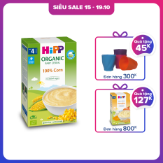[QUÀ TẶNG HOT] Bột ngũ cốc ăn dặm từ Bắp non HiPP Organic Baby Cereal 100% ngũ cốc hữu cơ, tự nhiên, an toàn, dinh dưỡng, bổ sung vitamin B1, dành cho trẻ từ 4 tháng tuổi, trẻ hay bị dị ứng thức ăn 200g