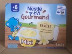 Váng sữa Nestle 6*60g-vani gourmand trẻ từ 6 tháng