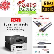 Bộ DAC giải mã âm thanh TRASAM DAC2 Plus Bluetooth 24BIT/192KHZ Tặng Combo UGREEN cao cấp AV 2 đầu + Dây âm thanh Quang