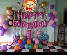 set bóng trang trí sinh nhật cho Bé tuổi Chuột/ Heo/Cún 1 Tuổi/ 2 Tuổi + bơm keo