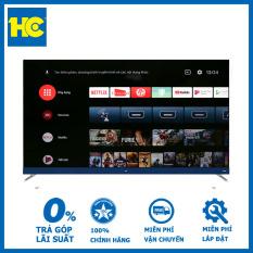 Android Tivi TCL 4K 65 inch L65C8-Độ phân giải 4K kết hợp công nghệ HDR10-Hệ điều hành Android tivi 9.0-Remote thông minh hỗ trợ tìm kiếm giọng nói tiếng Việt