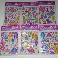 Set 10 bộ Sticker dán nổi búp bê 3D