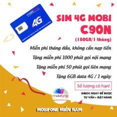 [Free Tháng đầu]Sim 4G 10 số Mobifone C90N Mỗi tháng Tặng 120GB + Miễn phí gọi 1000p nội mạng + 50p gọi ngoại mạng